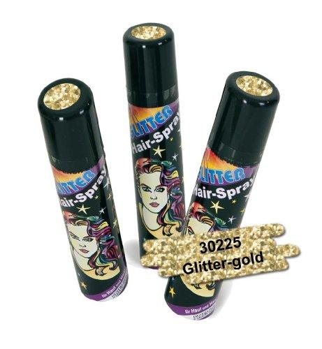 Unbekannt NEU Haarspray mit Glitter gold, 100 ml