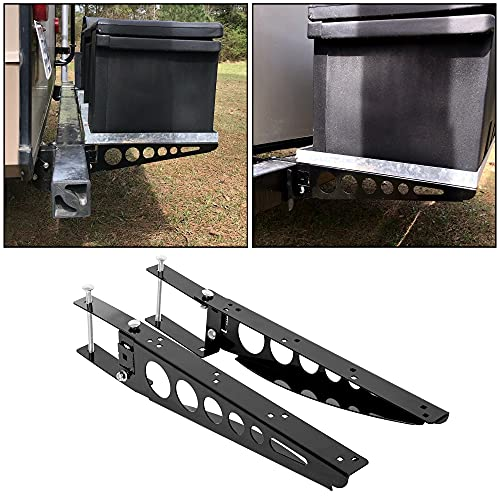 ECOTRIC Universal RV 4' Square Bumper Mounting Mounted Cargo Carrier Box Support Arms Bracket Mounting Racks. (A Pair!)