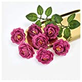 KAERMA Nouveau produit Simulation Pivoine Corolle Bouquet tactile bouquet de mariage Décoration Garland Accessoires Craft peut être personnalisé, 10Bunch Rose décorative (Color : Purple)
