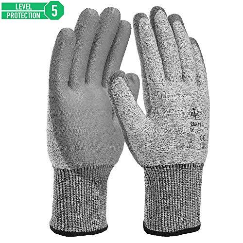 HaWe Premium Schnittschutzhandschuhe - Extra Starker Level 5 Schutz, EN 388 Zertifiziert, Extra beschichtet gegen Abrieb und Feuchtigkeit (XL - Größe 11)