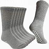 Debra Weitzner Non-Binding Loose Fit Sock - Non-Slip Diabetic Socks for Men and Women - Crew 6Pk Grey