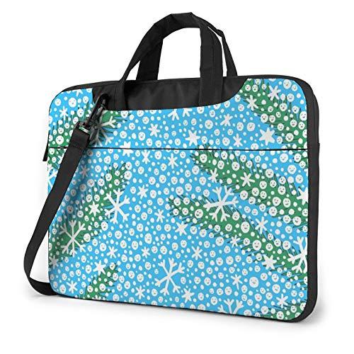 Miwaimao Snowman Llaptop Bag 15.6 Inch Briefcase Shoulder Bag Satchel Tablet Bussiness Carrying Handbag Laptop Sleeve