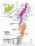 Wein Folly Frankreich: Burgund Wein Karte Poster Print,