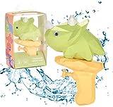 5pcs Dinosaurio De Dibujos Animados Pistola De Agua Juguete Dinosaurio Pistola De Agua Verano NatacióN Al Aire Libre Playa Juguetes Para NiñOs Que Sus Hijos Se Enamoren De Este Verano (Triceratops)