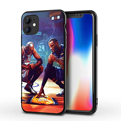 SUPTIIN iPhone 11 Case,Basketball Star Protective Shockproof Anti-Scratch Soft Bumper Cover Cases (MJ-Lebron-Kobe)