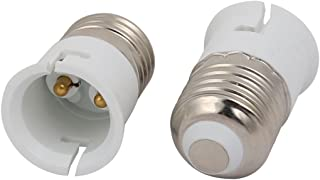 Aexit 2pcs (Lighting fixtures and controls) E27 to B22 Extender Adapter Converter Lamp Bulb Socket (98ry143qf54) Holder White