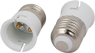 uxcell 2pcs E27 to B22 Extender Adapter Converter Lamp Bulb Socket Holder White