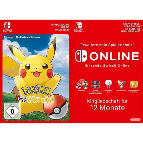 Pokémon: Let's Go, Pikachu! [Switch Download Code] + Switch Online 12 Monate [Download Code]