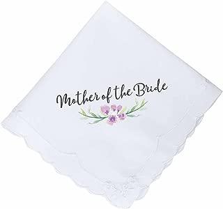 Lillian Rose AZ270003 MB Purple Mother of The Bride Hankie, White