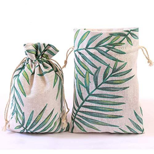 DAHI Baumwollsäckchen 25pcs säckchen mit Baumwollkordel 13x18cm Leinensäckchen jutesäckchen Geschenksäckchen (13X18cm)