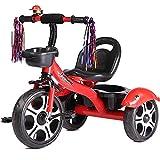 Triciclo Niño Bebe Coche Ligero Bicicleta Ruedas Gomas Conducción Silenciosa Niños 5 Años Máx 30 kg, Red