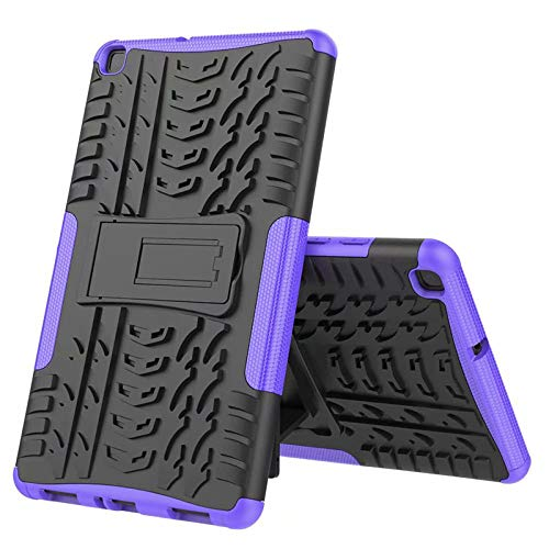 Nieuwe Tablet Case voor Samsung Tab ONE 8.0 inch 2019 T290 T295 T297 Back Cover 2 in 1 Silicon zachte harde Stand Armor Heavy Rugged case Paars