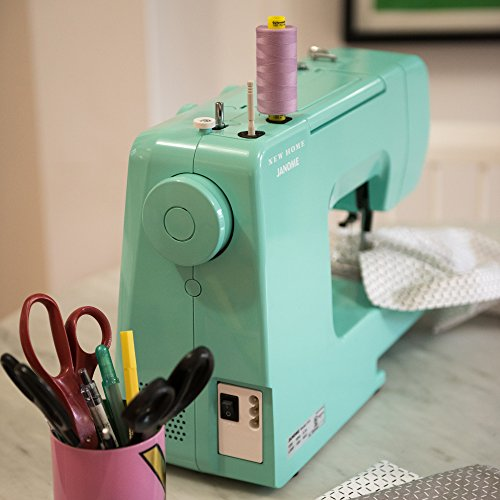 Janome Arctic Crystal Easy-to-Use Sewing Machine with Interior Metal Frame, Bobbin Diagram, Tutorial Videos, Made with Beginners in Mind!