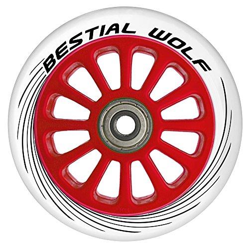 Bestial Wolf Rueda Pilot para Scooter Freestyle, Diámetro 100 mm (blanco)
