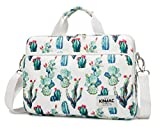 Kinmac 360° Protective Water Resistant Laptop Sleeve Bag Case with Handle and Detachable Shoulder (12.5 inch-13 inch, Cactus)