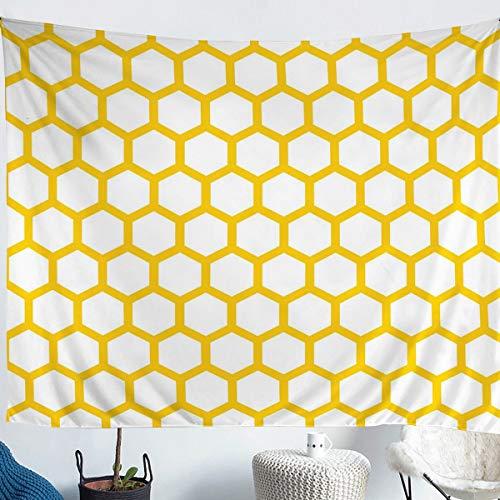 Erosebridal Honeycomb Wall Hangings Abstract Honeycomb Tapestries Beehive Tapestry for Kids Boys Girls Hexagonal Geometry Throw Blanket Lightweight Large 59x82 Soft Microfiber Room Decoration
