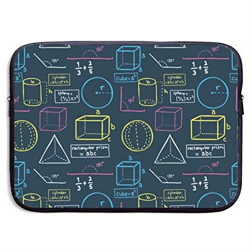 Neopreen stofdichte laptop draagtas 15 inch - waterdichte computertas wiskundige vergelijking schoolhoes compatibel met notebook/tablet/Ultrabook, stofdichte Aktetas voor mannen
