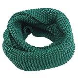 Weisin Bufanda de cuello para mujer, bufanda de punto grueso para invierno y cálido, bufanda infinita, para mujeres y hombres, color verde