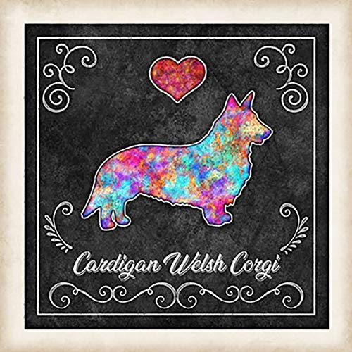 Choose size Cardigan Welsh Corgi Framed Watercolor Art Print by Dan Morris Personalized Two Color Options Black or White Frame,\u00a9Dan Morris