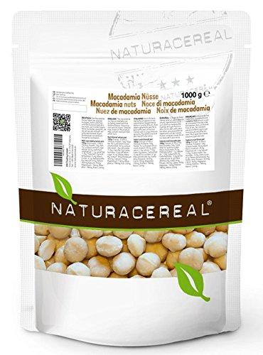 Noci di Macadamia 1000g (1 x 1 kg )- NATURACEREAL- IL CIBO RICCO DI MANGANESE