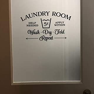 WSYYW Laundry Room Decoration Sign Wall Stickers Laundry Room Door Detachable Vinyl Wall Stickers Wall Home Glass Door Decoration Wall Stickers Home and Gardening Gray 27 94x57cm
