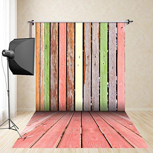 (UK) FiVan 5x10ft hout kleur fotografische achtergrond rekwisieten zijden doek fotografie kleding studio fotografie kinderen imitatie FD-2103