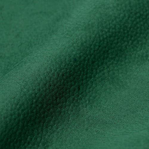DESHOME Marika - Tessuto al metro Microfibra Idrorepellente effetto Nabuk Stoffa resistente per divani, poltrone, cuscini, tappezzeria (Verde, 1 metro)