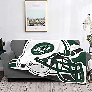 """Fremont Die New-York-Jet&s Fun Print Flannel Blanket Soft Cozy Lightweight Fleece Throw Blanket fit Couch Sofa Suitable for All Season 80""""x60"""""""