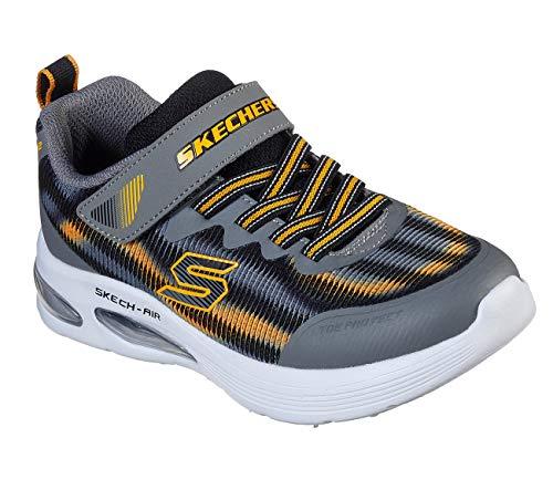 Skechers Kids Boys' Skech-AIR Dual Sneaker, Grey/Black, 2 Medium US Little Kid