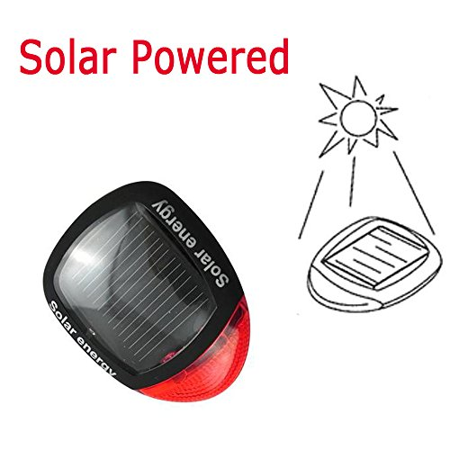 demiawaking energ/ía Solar LED para bicicleta luz de cola trasera Luz Piloto Trasero Rojo