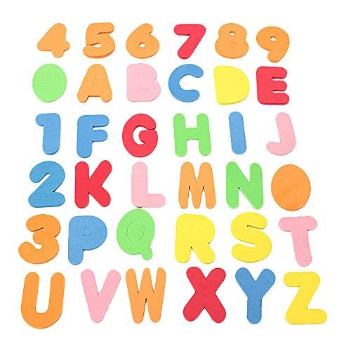 36pcs del baño del bebé Letras y números de Seguridad
