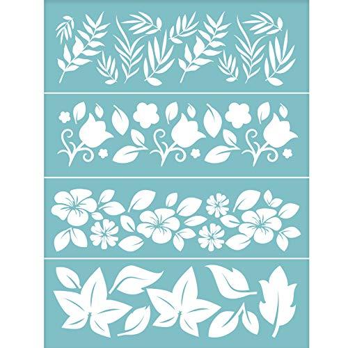 Plantillas para Pintar Flores Marca OLYCRAFT