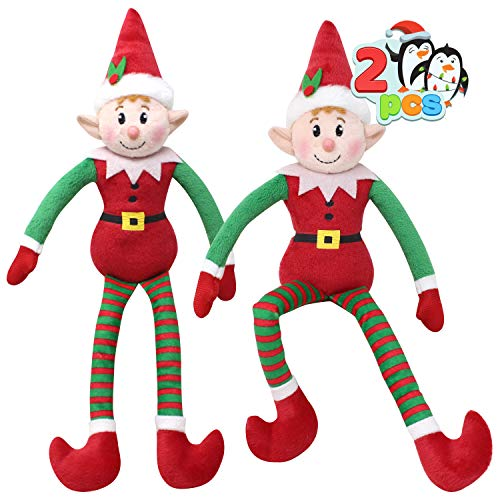 JOYIN Santa's Little Helper Plush Doll Christmas Elf Stuffed Doll for Christmas Holiday Hanging & Surface Decorations