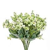 NAHUAA 4PCS Künstliche Blumen Kunststoffblumen Deko Seidenblumen Gefälschte Blume für Vase Zimmer Tischdeko Zuhause Balkon Garten Hochzeit Dekoration Hellgrün