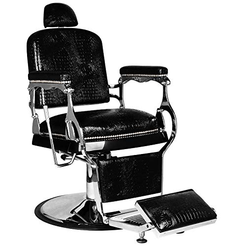 GABBIANO ALFREDO - Poltrona da barbiere Poltrona reclinabile idraulica Salone di bellezza Nero