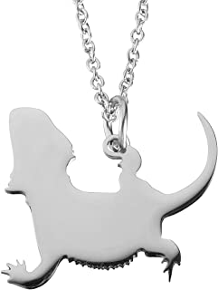 Haoflower Animal Necklace Pet Pendant Memorial Personalized Charm Unique Gift Lover Jewelry