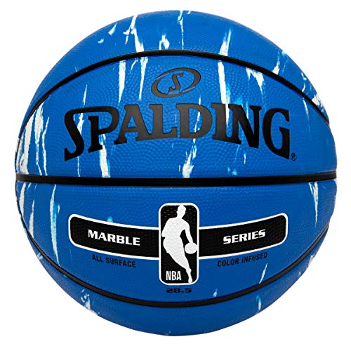 Spalding NBA Marble Series Blue Outdoor Basketball 28.5'