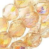 Fire Checa cristal pulido, redondo facetado cuentas 8mm, 20piezas, cristal amarillo Rainbow