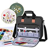 Luxja Embroidery Project Bag, Embroidery Kits Storage Bag (Bag Only), Black