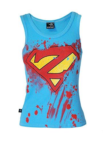 Darkside, Super-Zombie blaues T-Shirt ohne Ärmel, Größe: Small (32-34 inch Chest)