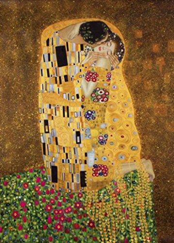 1art1 Gustav Klimt - Der Kuß II, 2-Teilig Fototapete Poster-Tapete 250 x 180 cm