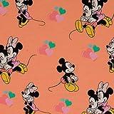 Loopomio Jersey Stoffe Disney Micky Maus Minnie hell orange