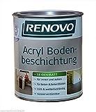 Acryl Bodenbeschichtung 750 ml RAL 7001 Silbergrau Renovo