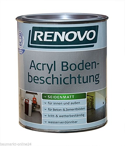 Acryl Bodenbeschichtung 2,5 L RAL 7032 Kieselgrau Renovo