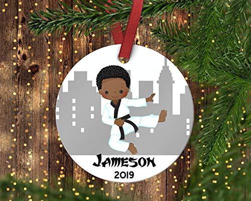 Custom Tree Ornament Xmas Tree Santa Onament Childrens Karate Christmas Ornament.Karate Childrens Ornament.Christmas Ornament.Personalized Christmas Ornament.Karate Ornament Christmas 2020