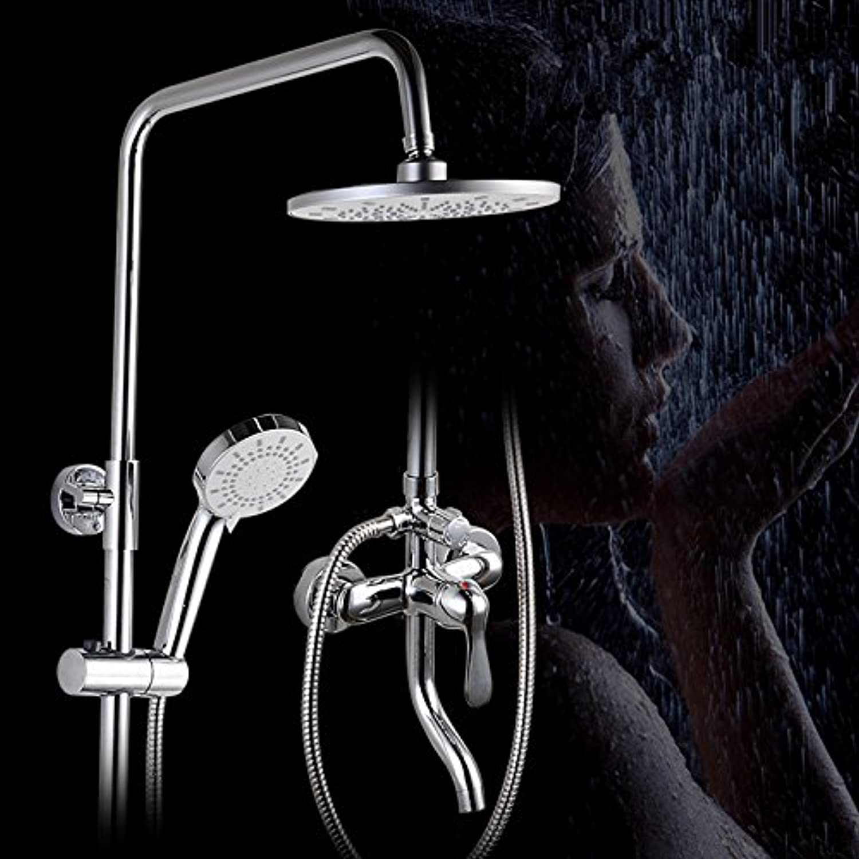 Luxurious shower 8 Zoll ABS-Duschkopf Chrom Dusche Wasserhahn Bad Dusche Regendusche Set