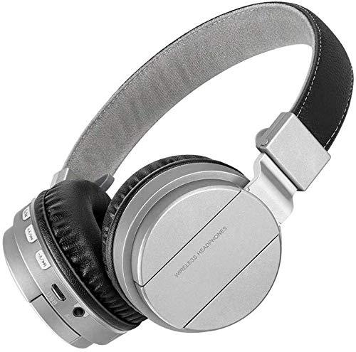 FHW Bluetooth noise cancelling hoofdtelefoons Headset HIFI computer notebook headset draadloos bass stereo gokken microfoon (zilvergrijs) koptelefoon