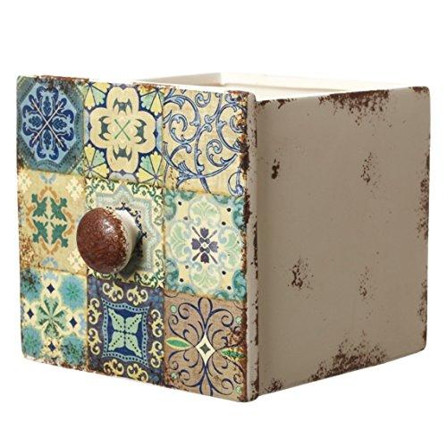 Unbekannt Heavensends FDT004A Großer Übertopf Marokko in Form Einer Schublade - 17 x 15 x 14 cm