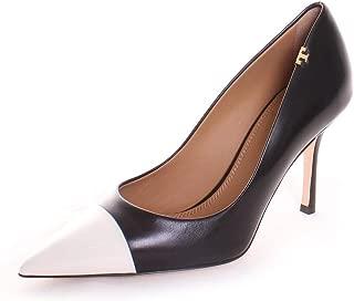 Penelope Cap-Toe Pump (9) Perfect Black/Italian Ivory
