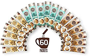 Coconut Cloud: Vegan Assorted Coffee Creamer Pack. Dairy Free, Made from Coconut Powder Milk with MCT Oil   20 each of Original, Vanilla & Salted Caramel Single Serve To-Go Cream Sticks, 60 servings
